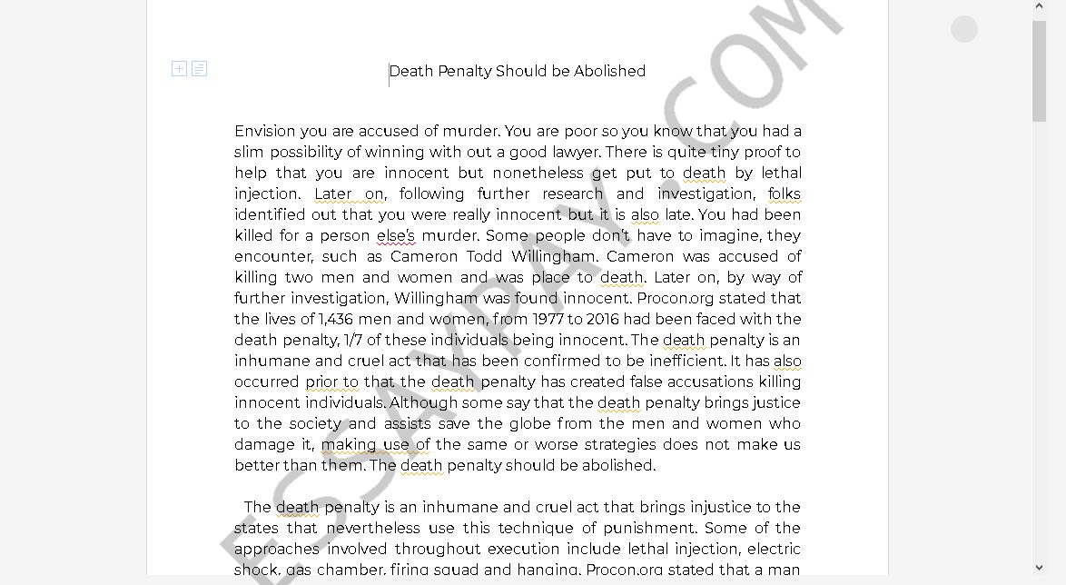 Abolish death penalty essay