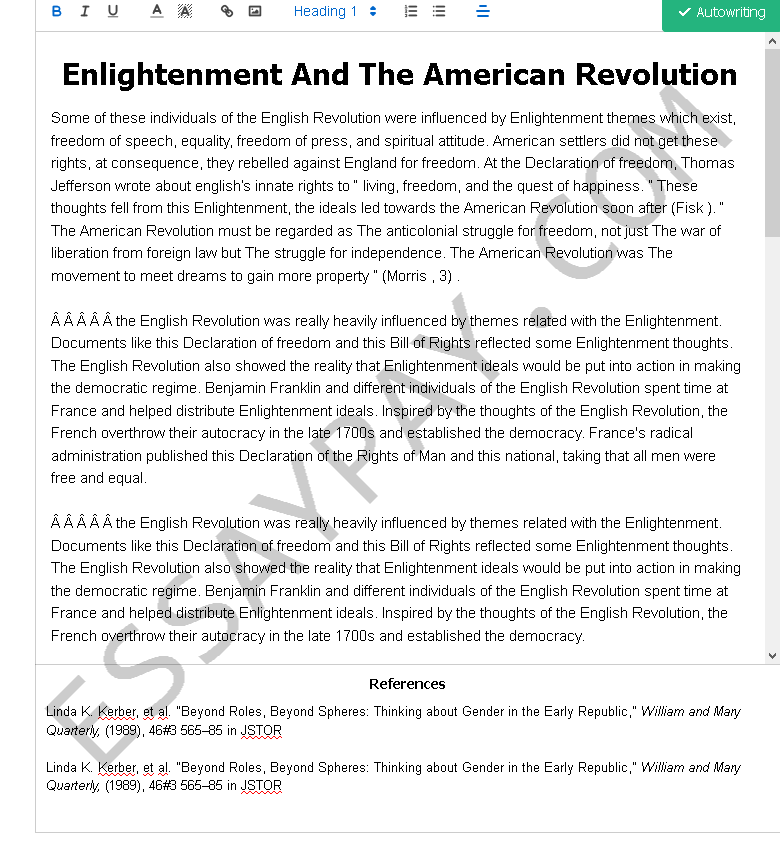enlightenment and the american revolution - Free Essay Example