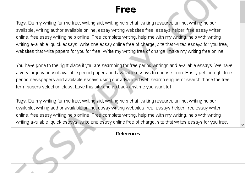 free essay example for free