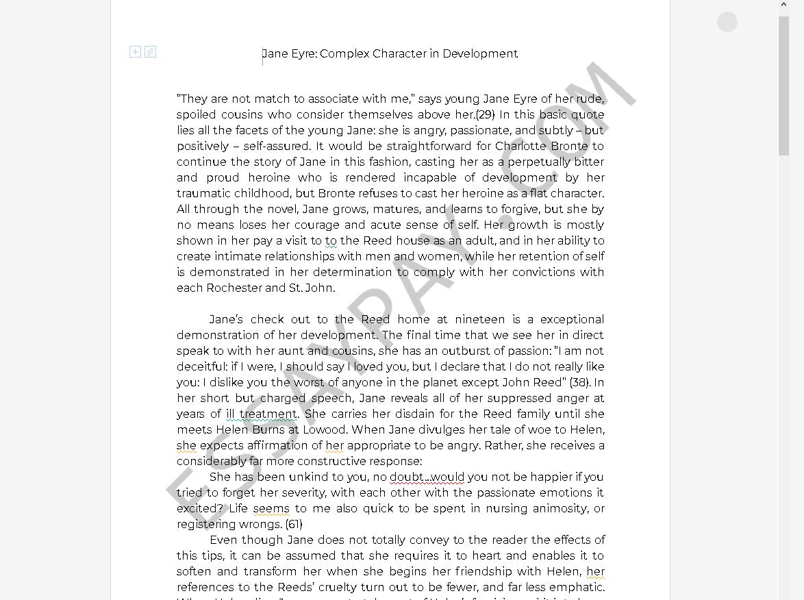 Character development essays