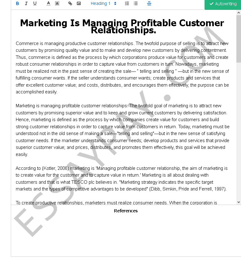 Relationship marketing essay