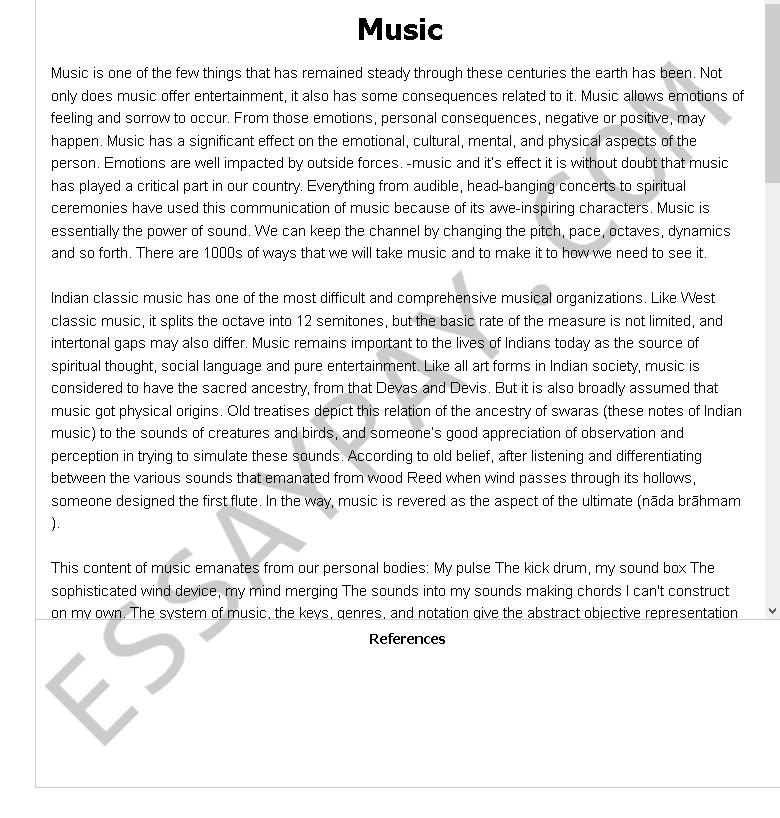 Simple essays on music