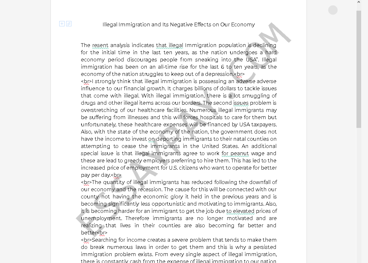 negative effects of immigration essay - Free Essay Example