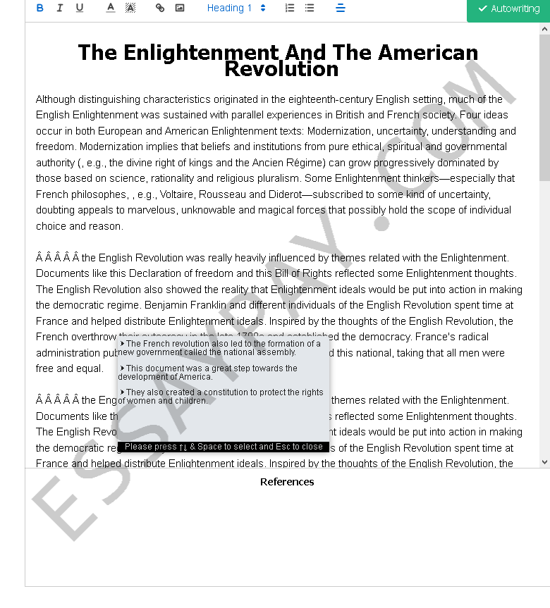 the enlightenment and the american revolution - Free Essay Example