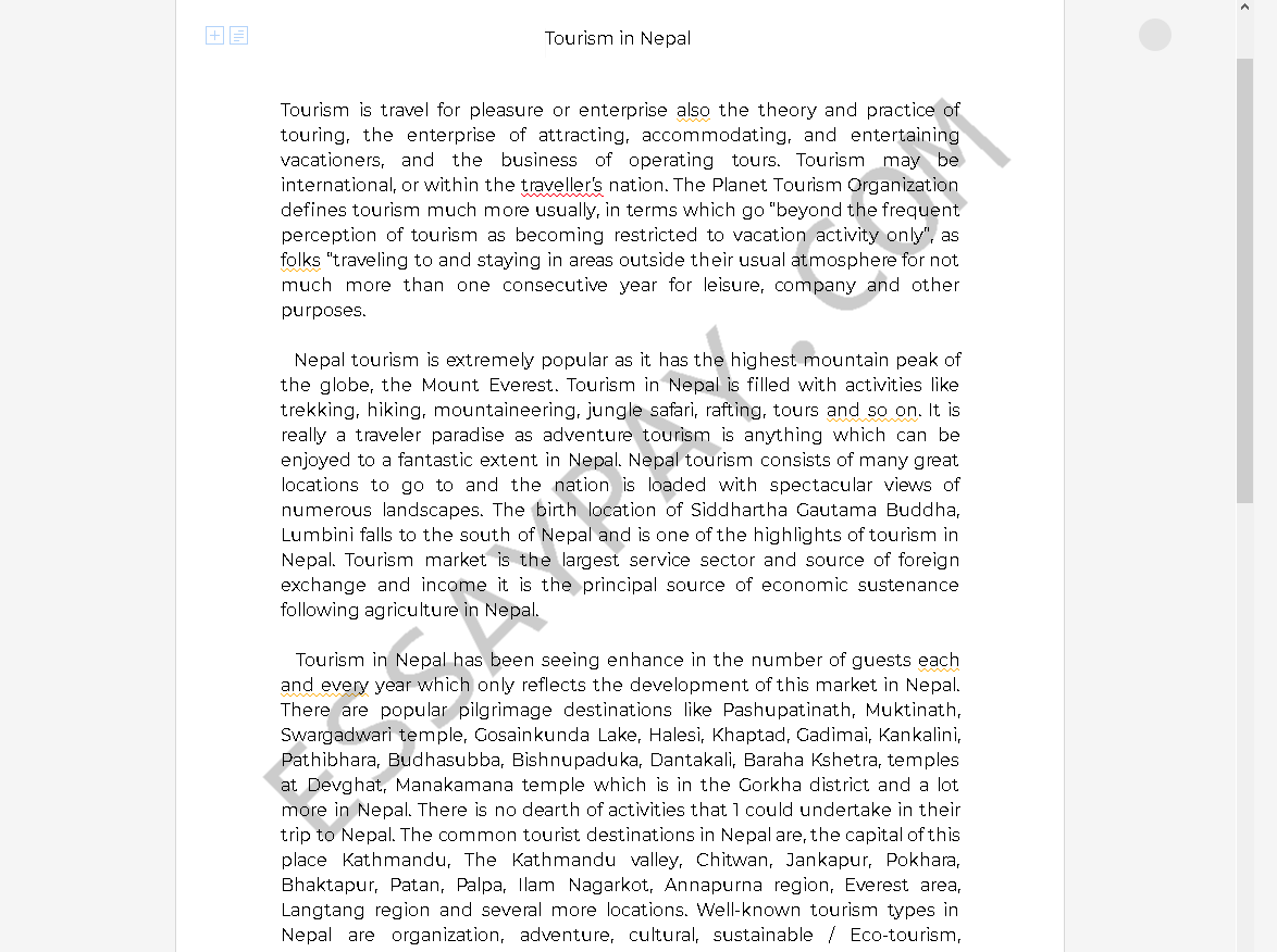 Essay about culture of nepal
