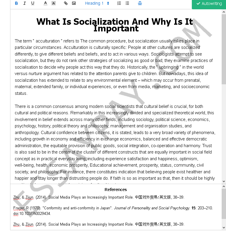 what is socialization and why is it important - Free Essay Example