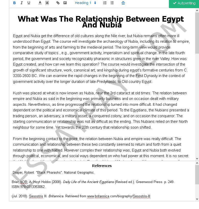 what was the relationship between egypt and nubia - Free Essay Example